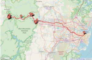 オーストラリア ブルーマウンテンズ列車の旅