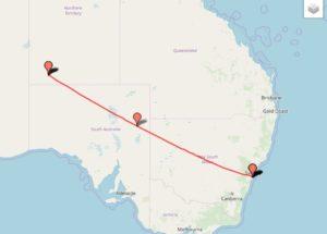 シドニーからエアーズロック(ウルル)へ飛行機ぶらり旅